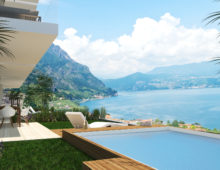 3 rooms in exclusive residence with breathtaking lake views